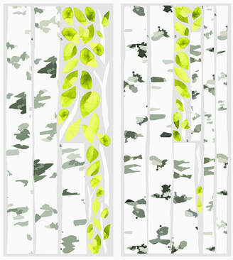York Wall Coverings York Wallcoverings Birch Trees Peel and Stick Giant Wall Decals