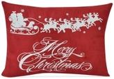 """Victoria Classics CLOSEOUT! Flying Santa 18"""" x 13"""" Decorative Pillow"""