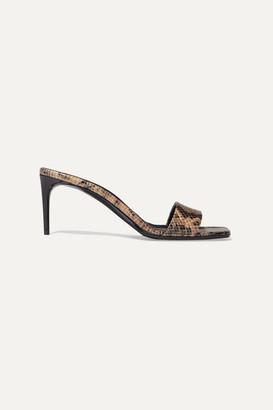 Stella McCartney Net Sustain Snake-effect Faux Leather Mules - Snake print