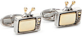 Paul Smith Tv Silver And Gold-tone Cufflinks - Silver