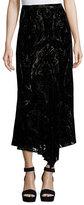 Nanette Lepore Velvet Paisley Midi Skirt, Black