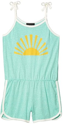 Tiny Whales Sunburst Romper (Toddler/Little Kids/Big Kids) (Tri Seafoam) Girl's Jumpsuit & Rompers One Piece