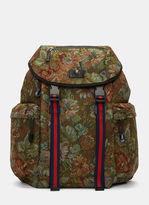 Men's Zaino Floral Brocade Backpack In Green €1.290