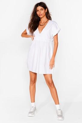 Nasty Gal Womens So Very Smooth Ruffle Mini Dress - White