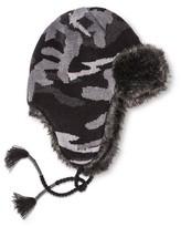 Mossimo Men's Camo Print Fur Peruvian Trapper Black/Gray One Size