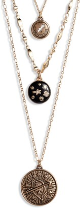Knotty Sagittarius Astrological Charm Layered Necklace