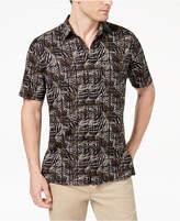 Tasso Elba Island Men's Leaf Tile-Print Shirt, Created for Macy's