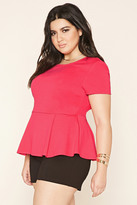 Forever 21 FOREVER 21+ Plus Size Peplum Top
