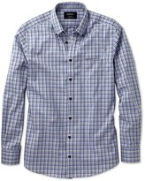 Slim Fit Non-iron Poplin Blues Multi Check Shirt
