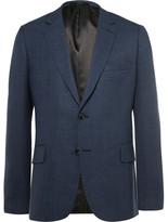Paul Smith Blue Slim-fit Woven Wool Blazer
