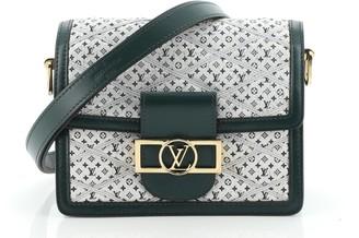 Louis Vuitton Dauphine Shoulder Bag Malletage Monogram Denim Mini