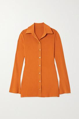 Joseph Beth Ribbed-knit Shirt - Orange