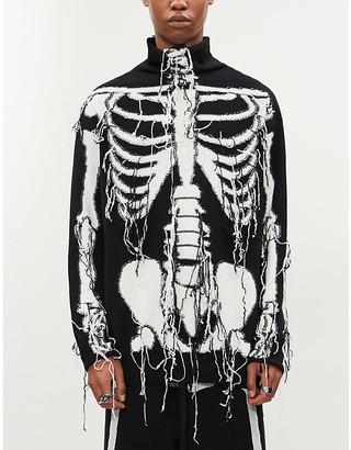 Loewe Distressed skeleton motif wool jumper