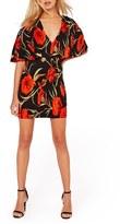 Missguided Women's Floral Print Cape Dress
