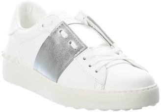 Valentino Open Leather Sneaker