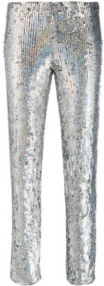 P.A.R.O.S.H. sequinned skinny-fit trousers