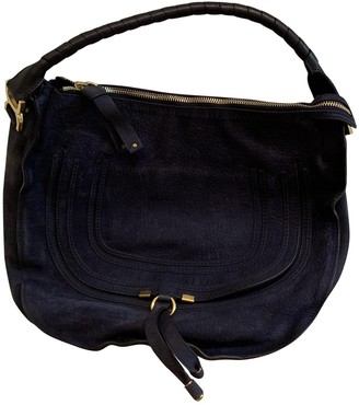 Chloã© ChloA Marcie Navy Suede Handbags