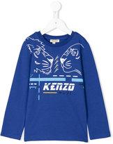Kenzo lion print long sleeved T-shirt - kids - Cotton - 2 yrs