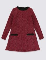 Marks and Spencer Round Neck Textured Dress (5-14 Years)
