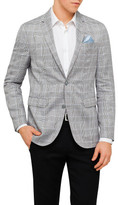 Sand Prince of Wales Check Half Jacket