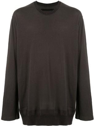 Julius knitted hem long-sleeved T-shirt