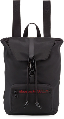 Alexander McQueen Men's Logo Messenger Backpack