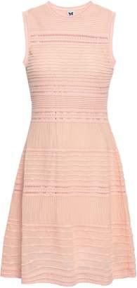 M Missoni Ribbed Crochet-knit Cotton-blend Mini Dress