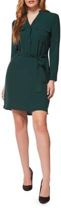 Dex Self-Sash V-neck Dress