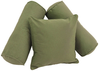 Blazing Needles Solid Twill Throw Pillows with Inserts, Set of 3,, Sage