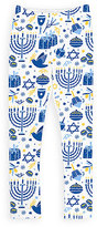 Urban Smalls Blue & White Hanukkah Leggings - Toddler & Girls