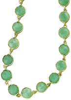 "Irene Neuwirth 34"" Rose Cut Chrysoprase Chain Necklace - Yellow Gold"