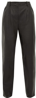 Nili Lotan Lodie Leather Trousers - Womens - Black