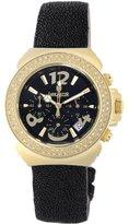 Lancaster Women's OLA0423G/NR/NR Diamond Pillo Chronograph Diamond Black Dial Watch