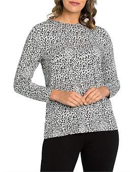 Marc O'Polo Marco Polo Long Sleeve Sketch Spot Tunic