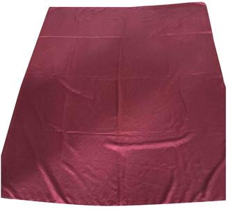 Saint Laurent Burgundy Silk Scarves