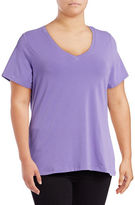 Lord & Taylor Plus Solid V-Neck T-Shirt