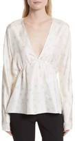 Elizabeth and James Women's Ophelie Print Silk Blouse