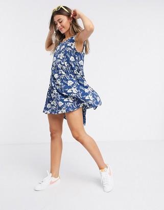 Brave Soul mini swing dress in floral prirnt
