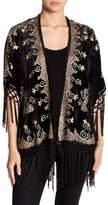 Raga Leila Embroidered Velvet Kimono