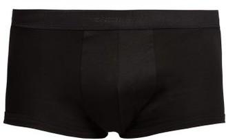 Zimmerli 286 Sea Island Cotton Boxer Trunks - Mens - Black