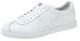 Altuzarra Aquazzura White Leather The A Lace Up Low Top Sneaker Size 40