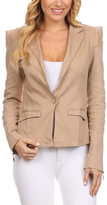 Khaki One-Button Blazer