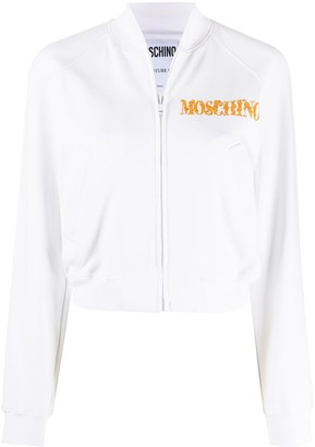 Moschino cropped Anime print jacket