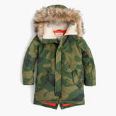 J.Crew Boys' fishtail parka in camo