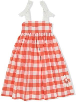 Fendi Kids Gingham Print Dress