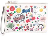 Anya Hindmarch All Over Wink Stickers clutch - women - Leather - One Size