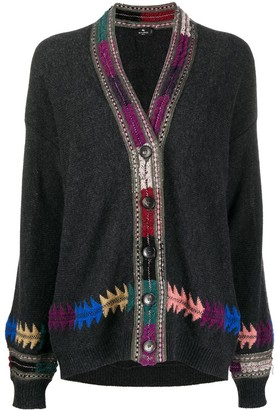 Etro Contrast Embroidery Cardigan