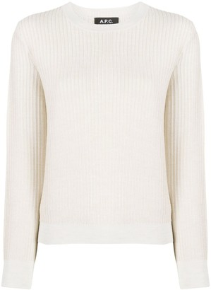 A.P.C. knitted long sleeve jumper
