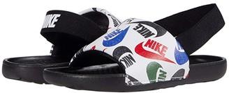 Nike Kids Kawa Slide SE JDI (Infant/Toddler) (Black/White) Kids Shoes