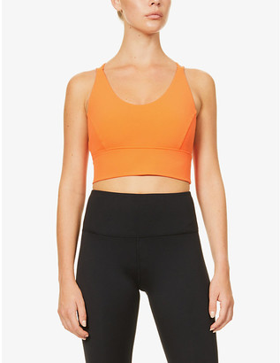 Lorna Jane Long Line racerback stretch-woven sports bra